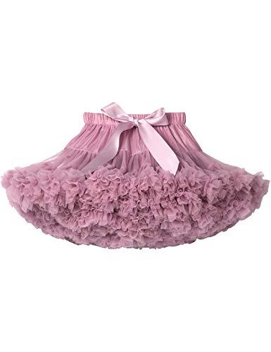 (Baby Girls Tutu Skirt Princess Fluffy Soft Chiffon Ballet Birthday Party Pettiskirt Skinpink XS)