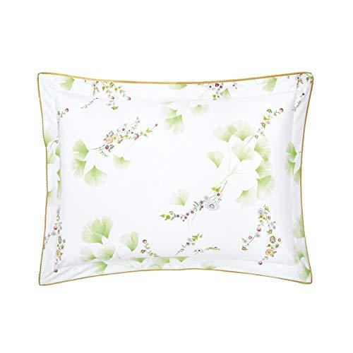 Yves Delorme - Ginkgo Floral Standard Sham (Single) - Luxury Sham (Single) from France.