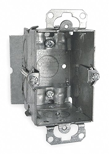 Hubbell-Raco 512 2-1/2-Inch Deep Switch Electrical Box, Gangable with Plaster Ears, (4) NMSC clamps, Old-Work Side Clips, 3-Inch x 2-Inch