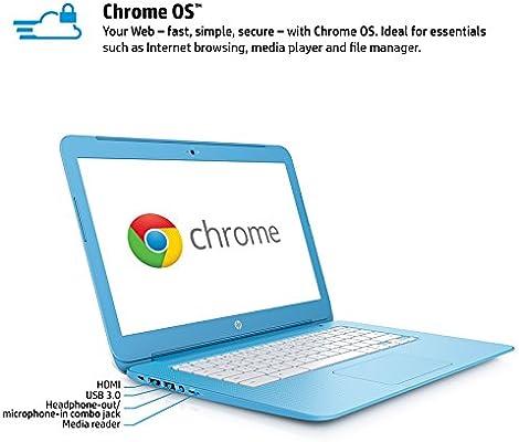 HP Chromebook 14-ak060nr 14-Inch Laptop (Intel Celeron, 4 GB RAM, 16 GB SSD)