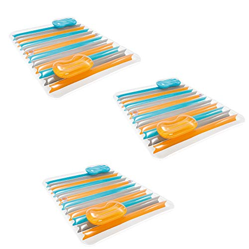 Mat Lounge (Intex Inflatable Double Pool Lounge Mat (3 Pack))