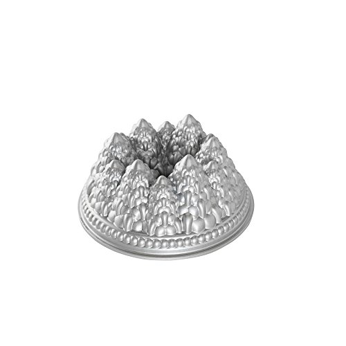 - Nordic Ware Pine Forest Bundt Pan, Metallic