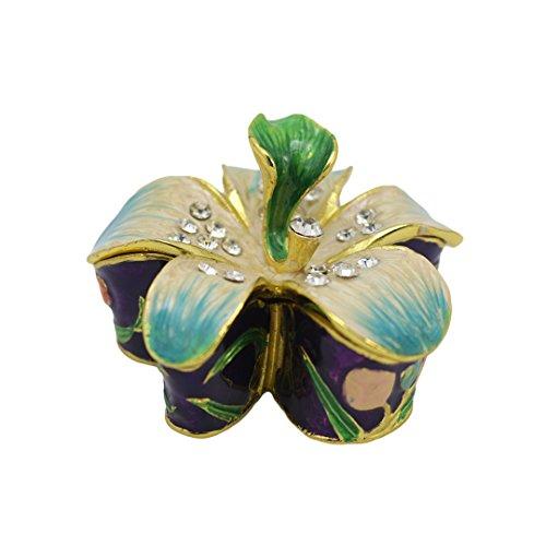 Novias Vintage Flower Shape Jewelry Box Decorative Trinke...