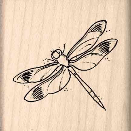 Stamps by Impression ST 0624a Dragonfly Rubber Stamp