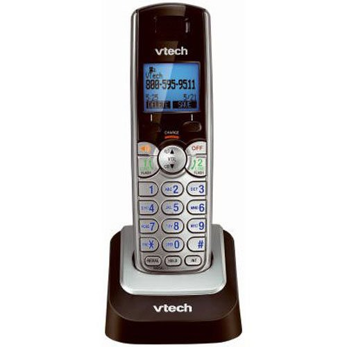 VTech DS6101 Accessory Handset with Caller ID/Call Waiting for VTech DS6151, Silver (2 Digital Phone Handsets)