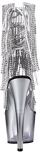 Clear Pleaser Silver ADORE Silver 1017RSFT 0ExrnvwqE