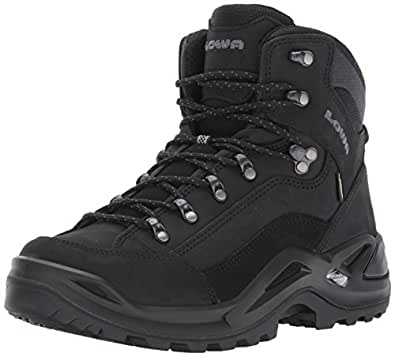 Lowa Men's Renegade GTX Mid Hiking Boot,Black/Black,8 N US