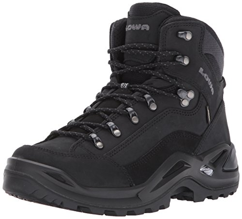 Lowa Men's Renegade GTX Mid Hiking Boot,Black/Black,10 M US