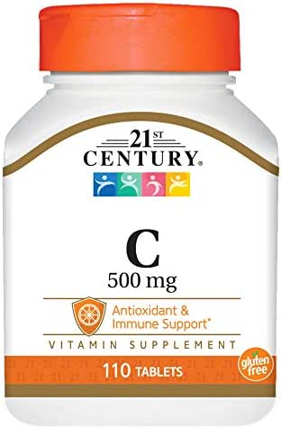 21st Century C 500 Mg Tablets, 110 Count