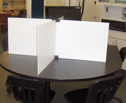 Test Dividers RSB-W SET (Regular Size Boards - WHITE) 24 Boards and 24 Stands 24
