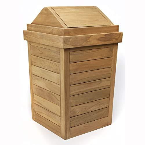 teak trash can - 5