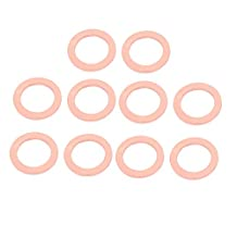 uxcell® 10pcs 26mm x 18mm x 2mm Flat Ring Copper Crush Washer Sealing Gasket Fastener