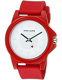 Womens Red Silicone Strap Watch