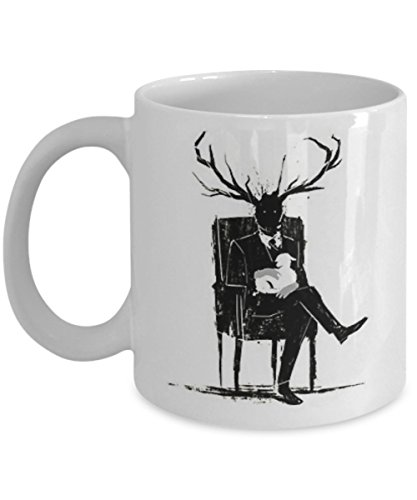 Hannibal Lecter Stag Antlers Lamb - Coffee Mug, Tea Cup, Funny, Gift for Ideas, Father's Day, Dad, Daughter, Quote, Love, Him, Her, Women, Mother, Wife, Sister, Girlfriend, Boyfriend
