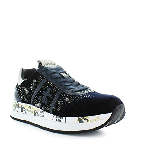 Blu Premiata Pelle Conny3364 Sneakers Donna vXnr7Svx