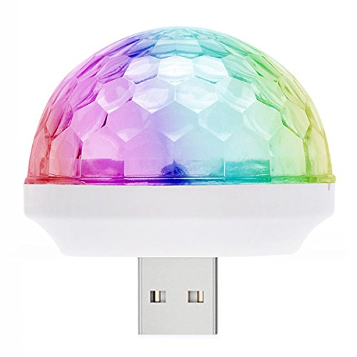 Disco Inferno Dance Costume (WillMall Mini USB Disco Light Ball Led Portable Party Strobe Dance Light-DC 5V USB-Led DJ Disco Party Lights Bulb Decorations for Karaoke Machine Kids Birthday Gift Stage Home Holiday Supplies)