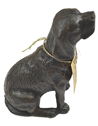 LuLu Decor, Cast Iron Decorative Dog Door Stopper, Doorstops, Sculpture, Dog Statue (Antique Black 4 lbs)