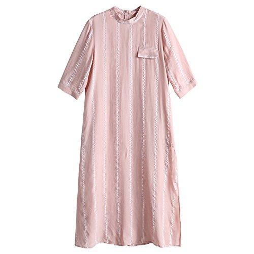 MiGMV?Collier  Rayures, Robes Robe, Sept Paires de Manches, Jupe Longue, Les vtements pour Dames,S,Stripe