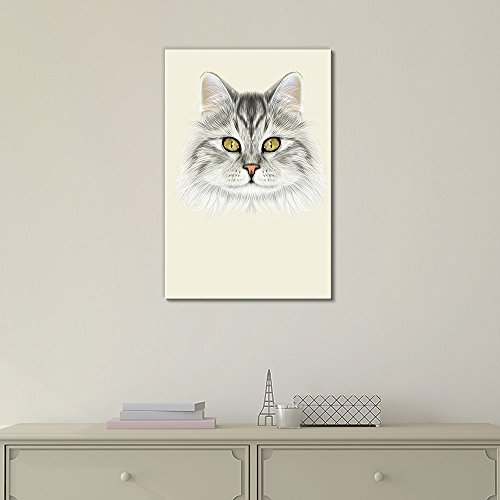 Watercolor Style Cute Cat