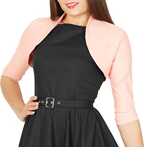 Pink Bolero - BlackButterfly Tailored 3/4 Sleeve Bolero (Pink, US 6)