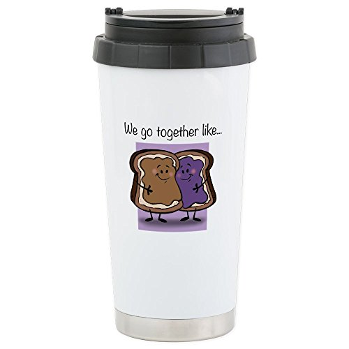 CafePress - Peanut Butter And Jelly - Stainless Steel Travel Mug, Insulated 16 oz. Coffee Tumbler