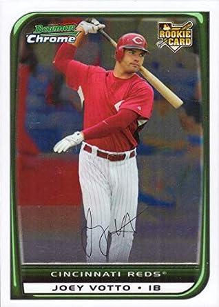 Amazoncom 2008 Bowman Chrome 194 Joey Votto Baseball Card W