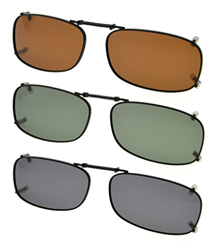 Eyekepper Grey/Brown/G15 Lens 3-pack Clip-on Polarized Sunglasses 2