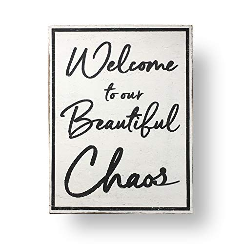 (Wood Signs Welcome to Our Beautiful Chaos Sign 15 x 21)