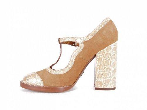 Dolce & Gabbana D&G Zapatos mujer Scavigliata Crosta Talla 40 NEU 460 C08294 Cammello
