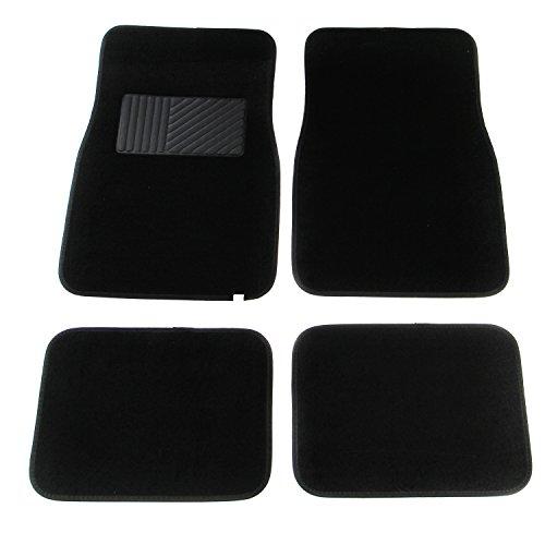 APZONA Multi Season Carpet Floor Mats 4pc Set Black Fit Most Cars, SUVs, Vans and Trucks
