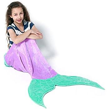 Amazon Com Echolife Mermaid Tail Blanket Super Soft