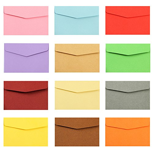 AS Multicolor 50pcs - Perfect sized envelopes for personalize gift cards, wedding or Birthday Party place cards,50pcs.(4.7 x 3.2 in)