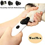 Painless Dog Nail Grinder,Low Noise Pet Nail Trimmer,Powerful Dog Nail Trimmer,Cat Claw Care Tool,Pet Nail Trimmer Grinder,Dog Nail Grooming for Small Medium Large Pets,Rechargeable,Easy Clean