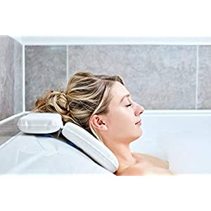 Bath Pillow | Best Bath Pillows For Head And Neck With 7 Suction Cups | Luxury Bath Cushion For Ergonomic Headrest…