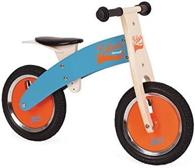 Janod - Bikloon Bicicleta sin Pedales, Color Azul y Naranja ...