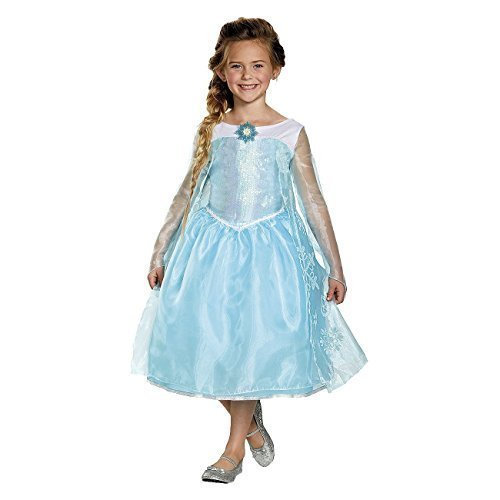 Girls Frozen Elsa Sequin Deluxe Costume (M(7-8)) by