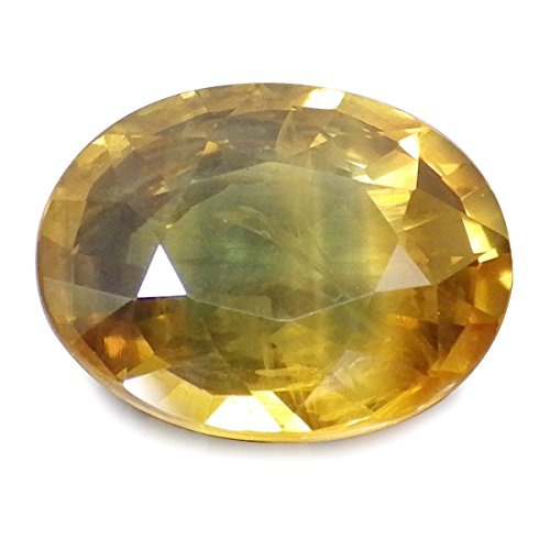 4.02 Ct. Natural Oval Bi-color Yellow Green Sapphire Thailand Loose Gemstone