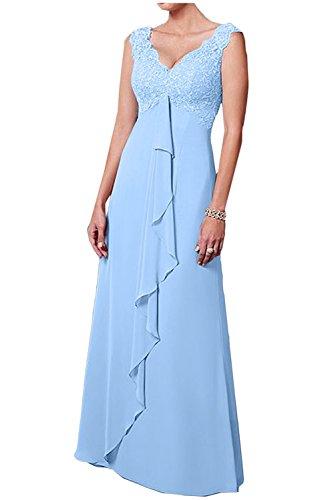 Brautmutterkleider Ballkleider La V Linie Lemon Chiffon Gruen mia Weiss Spitze Damen Langes Ausschnitt Herrlich Rock A Braut Abendkleider 8Hzwq84