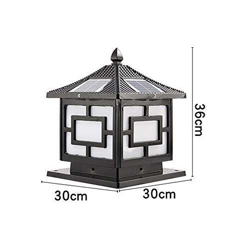 Pcqre Outdoor Waterproof LED Landscape Light Courtyard Anti Rust Glass Solar Lamp IP54 Decorative Aluminum Path Light…
