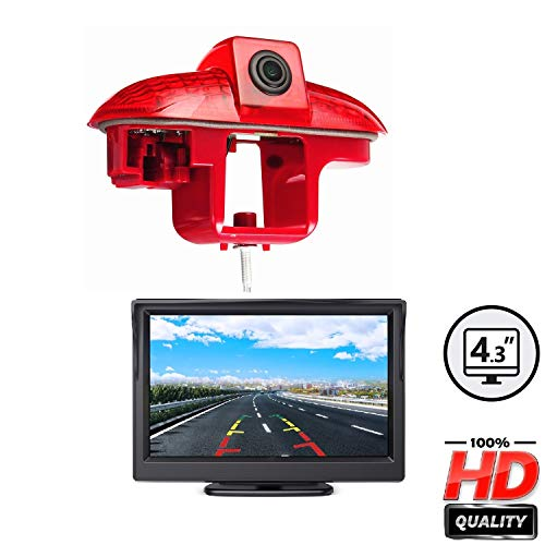 HD 720P dakrand achteruitrijcamera geïntegreerd in 3. Remlicht transporter cameraset voor Trafic MK2, Opel Vivaro A…