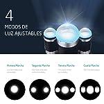 VicTsing - Lampe Frontale LED, 6000lumens, 4modes de lumière, pour Camping, Pêche, Vélo, Course, Chasse...(2piles rechargeables incluses, étanche IP65) 7