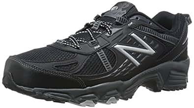 New Balance Men's MT410BS4 Trail Shoe, Black/Silver, 7 4E US