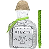 "White Tequila Bottle Pinata with Stick -17.5"" x 10.5"" x 4.5"" Perfect for Adults Party Decorations, Centerpiece, Photo Prop, Birthday, Funny Anniversary, 21 birthday - Fits candy/favors: by Get a pinata"