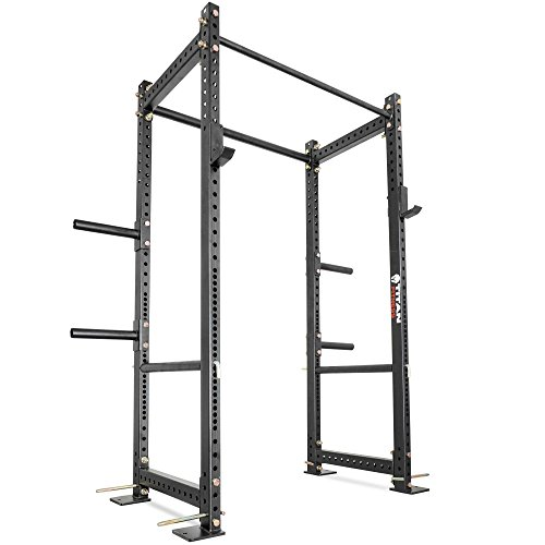 Titan Fitness T-3 Series 82'' Power Rack Squat Deadlift Cage Benchpress Pull Up by Titan Fitness