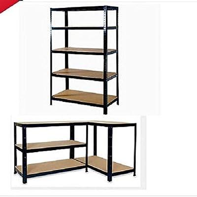 5 Tier resistente sin tornillos estantería de metal estantes ...