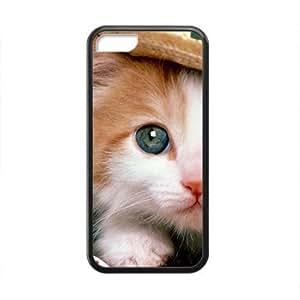 XiFu*MeiLovely Adorable Cat Kitten Black Phone Case for ipod touch 5XiFu*Mei
