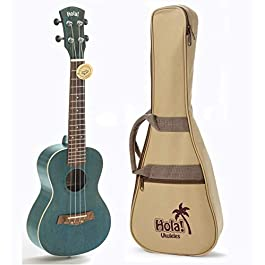 Concert Ukulele Bundle, Deluxe Series by Hola! Music (Model HM-124BU+), Bundle Includes: 24 Inch Mahogany Ukulele with…
