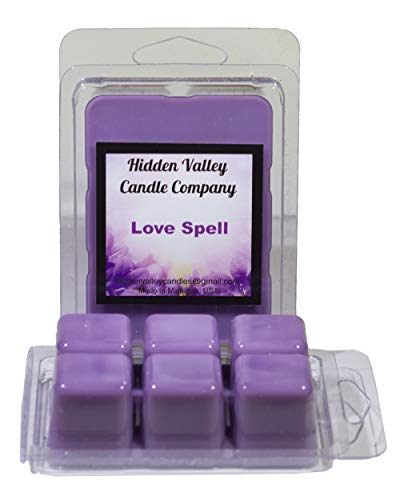 Love Spell ***2 Pack*** Double Scented Wax Melts (6.5oz). An instant classic - this fragrance is a luscious fusion of citrus, cherry blossom, hydrangea, apple and peach; with a hint of blondewood. You will receive 2 packs for a total 12 cubes which will throw 50+ hours of fragrance when melted in Scentsy®, Yankee Candle® or standard electric tart warmer.