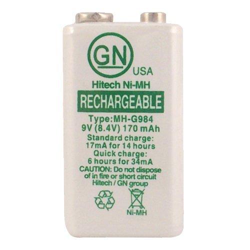 Hitech - Ni-MH 9V Rechargeable Battery 250mAh, 8.4V