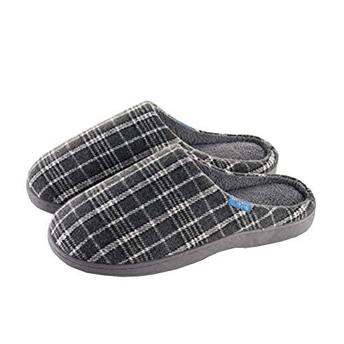 Coton Confortable Antidérapant Tongues SFHK Molleton Hiver De Unisexe Chaussons Chaussures Intérieur Air Plein Gray qEPagPZt